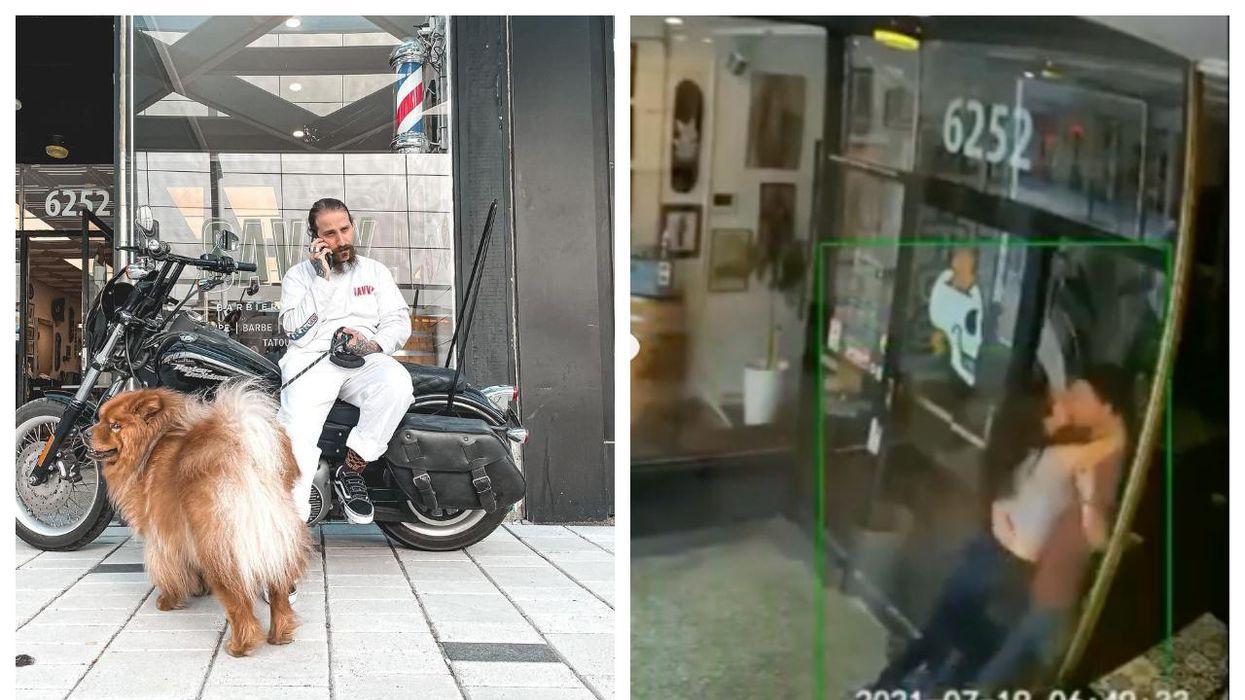 Montreal's Savvy Barbershop Seeks Kissing Couple That Broke Window