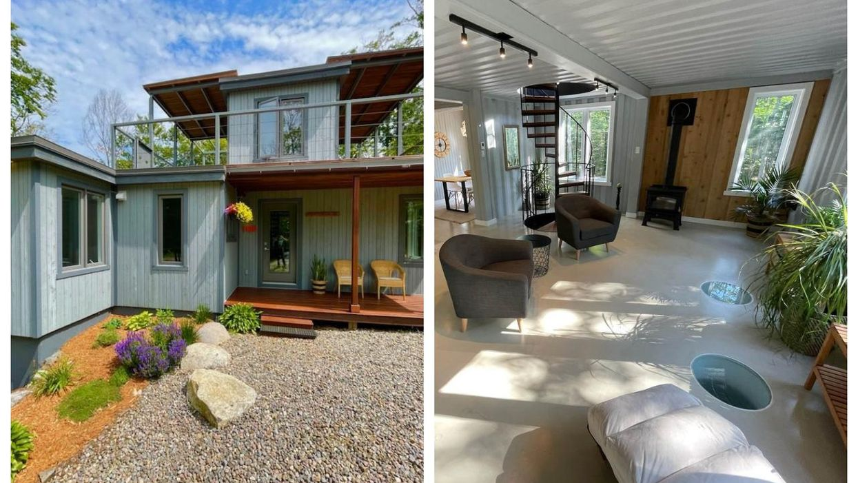 This Laurentians Home For Sale Is Made Of Shipping Containers