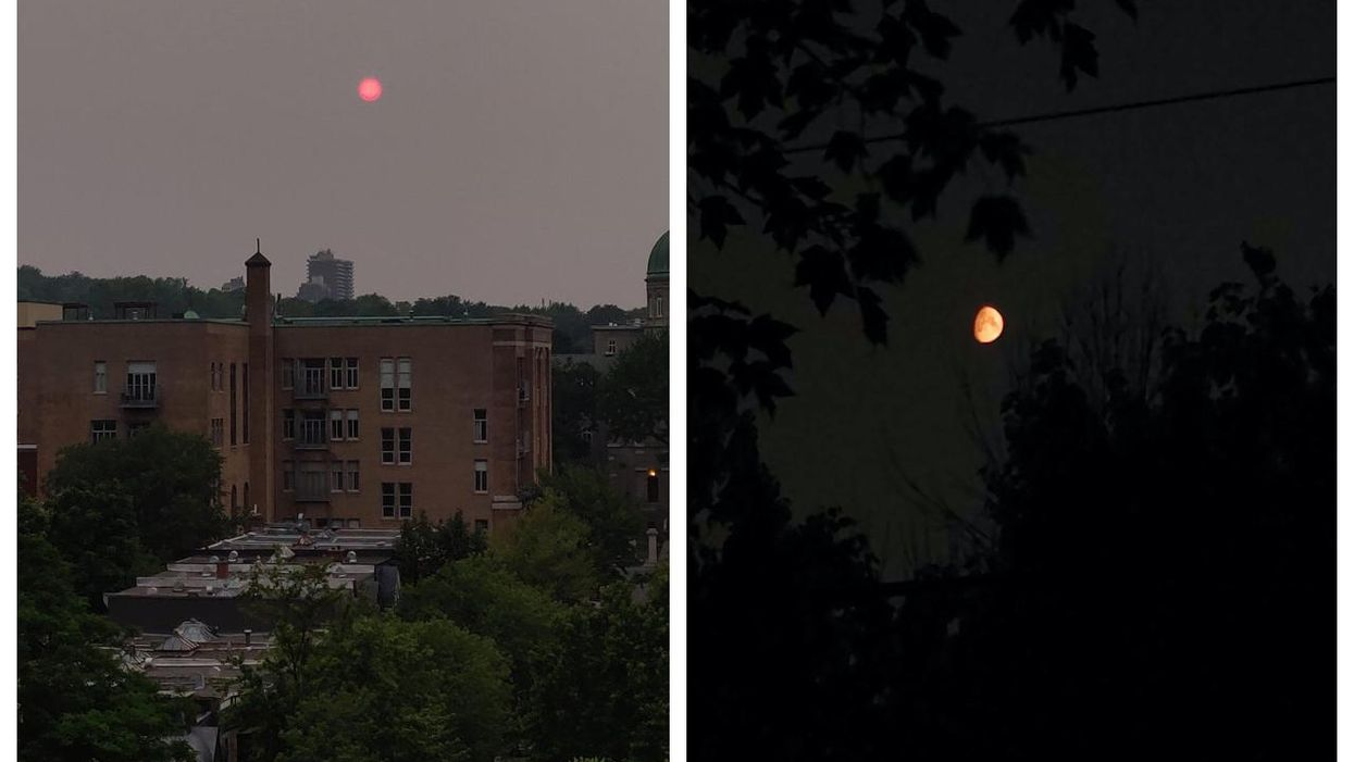 Montreal's Sun & Moon Were Orange On Monday & Here's Why
