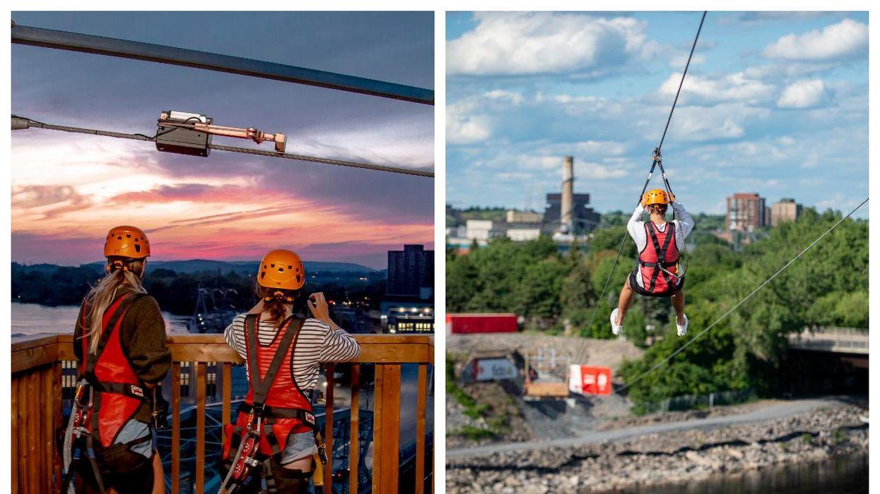 This Zipline Crosses The Quebec-Ontario Border