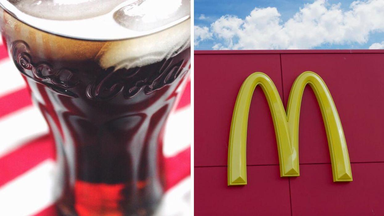 Some Walmart McDonald's In Quebec Are Giving Free Coca-Cola Glasses