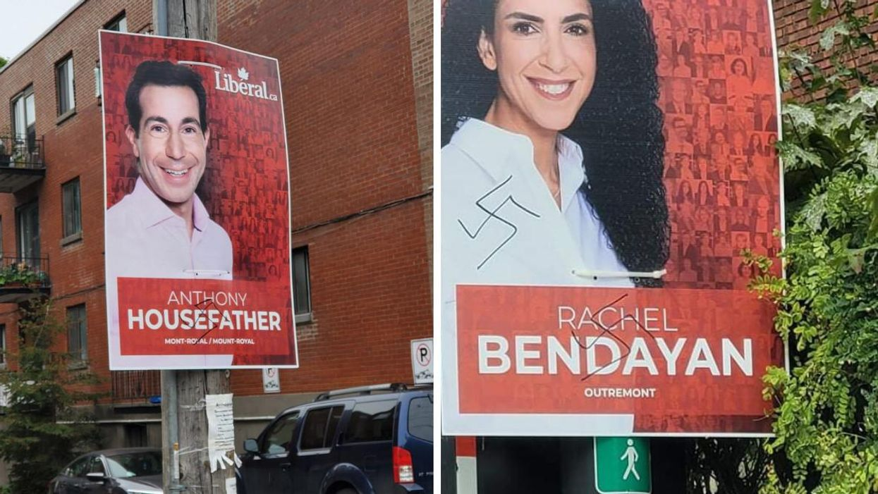 Liberal Election Signs In Montreal Were Defaced With Swastikas