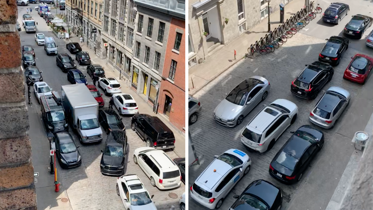 Old Montreal Roads Are Closed & Traffic Is Bonkers (VIDEO)