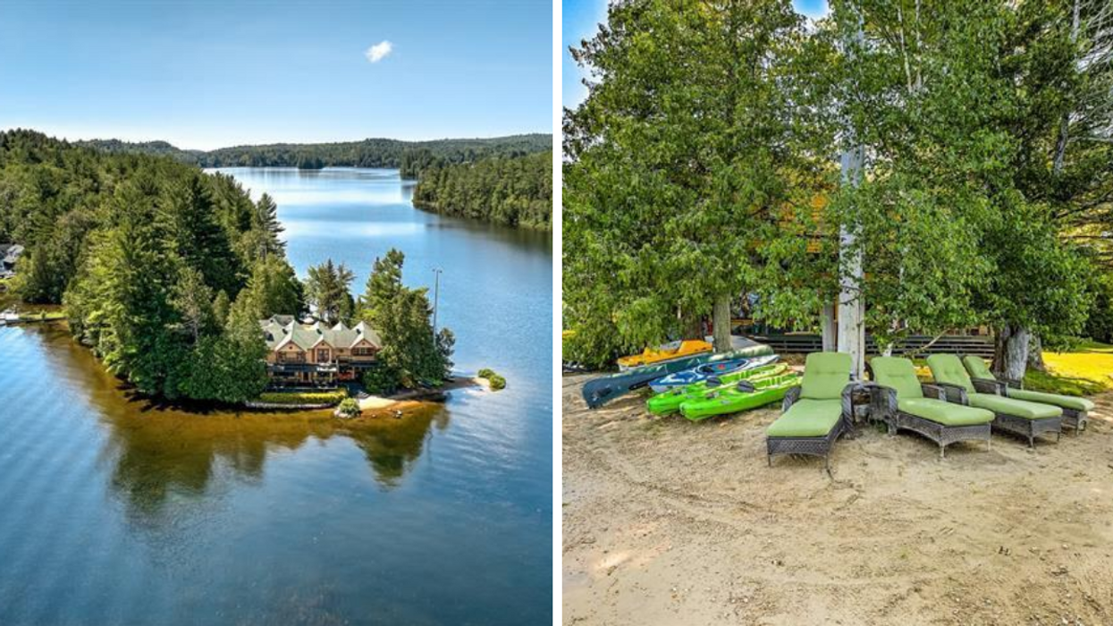 This Private Island Cottage For Sale 1.5 Hours From Montreal Has Its Own Beach (PHOTOS)