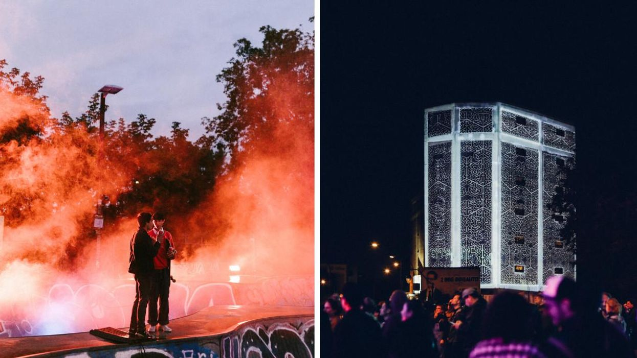 Montreal's Mile End Is Hosting A Night Block Party With Giant Projections & Fried Chicken