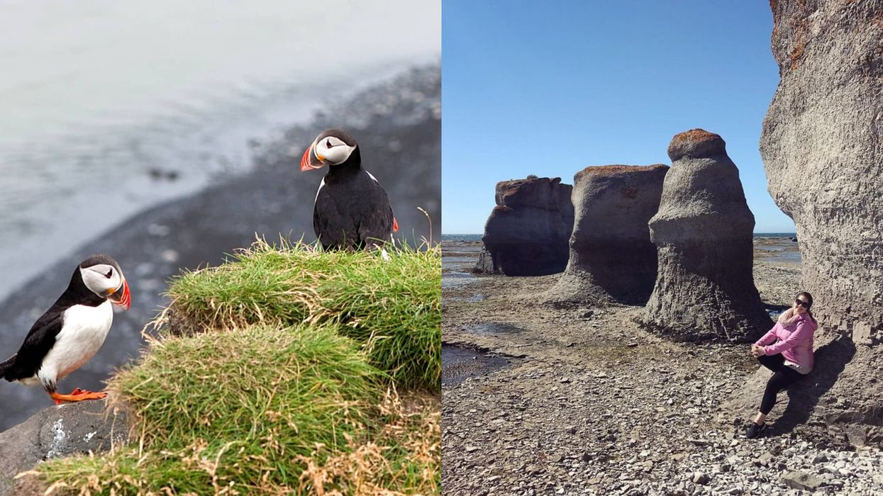 Quebec Has A Park Filled With Monoliths & Puffins That Feels Like A Different Planet