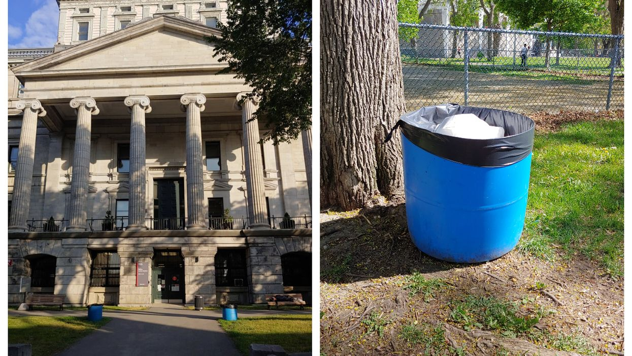 A Fed-Up Montreal Politician Left Ugly Trash Bins In Front Of City Hall To Send A Message