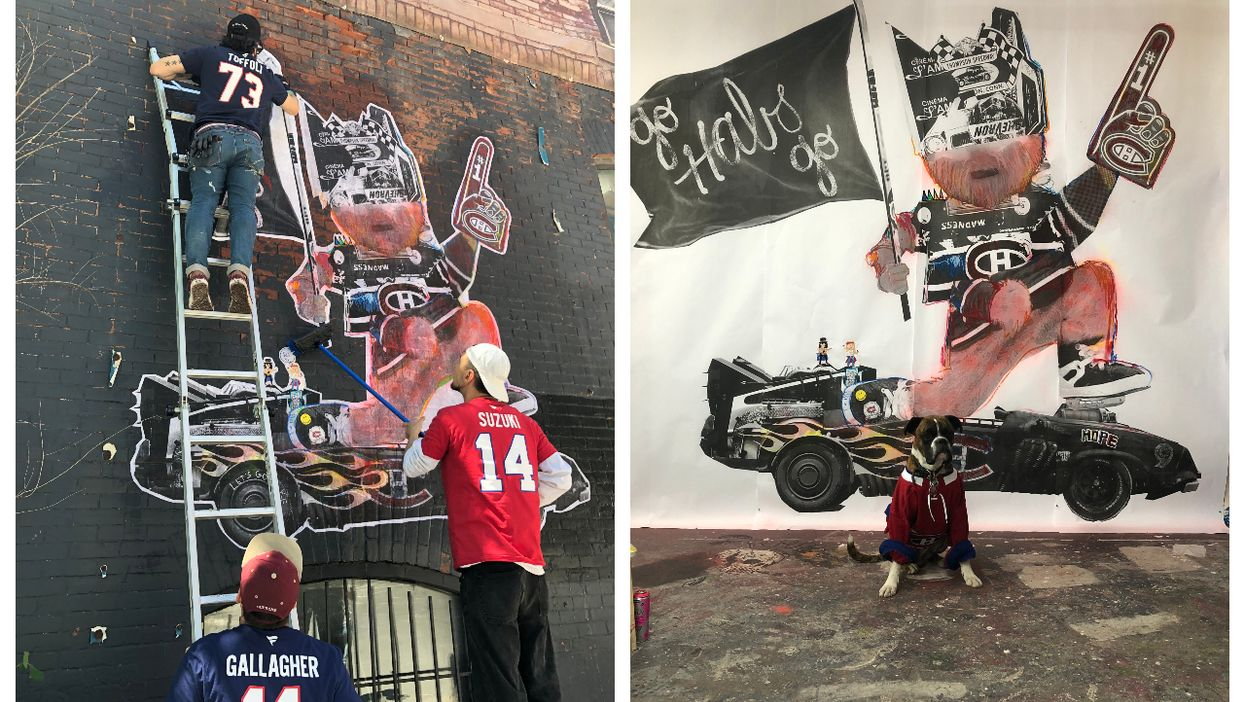 Montreal Has A New Mural Dedicated To The Habs And It's Pretty Metal (VIDEO)