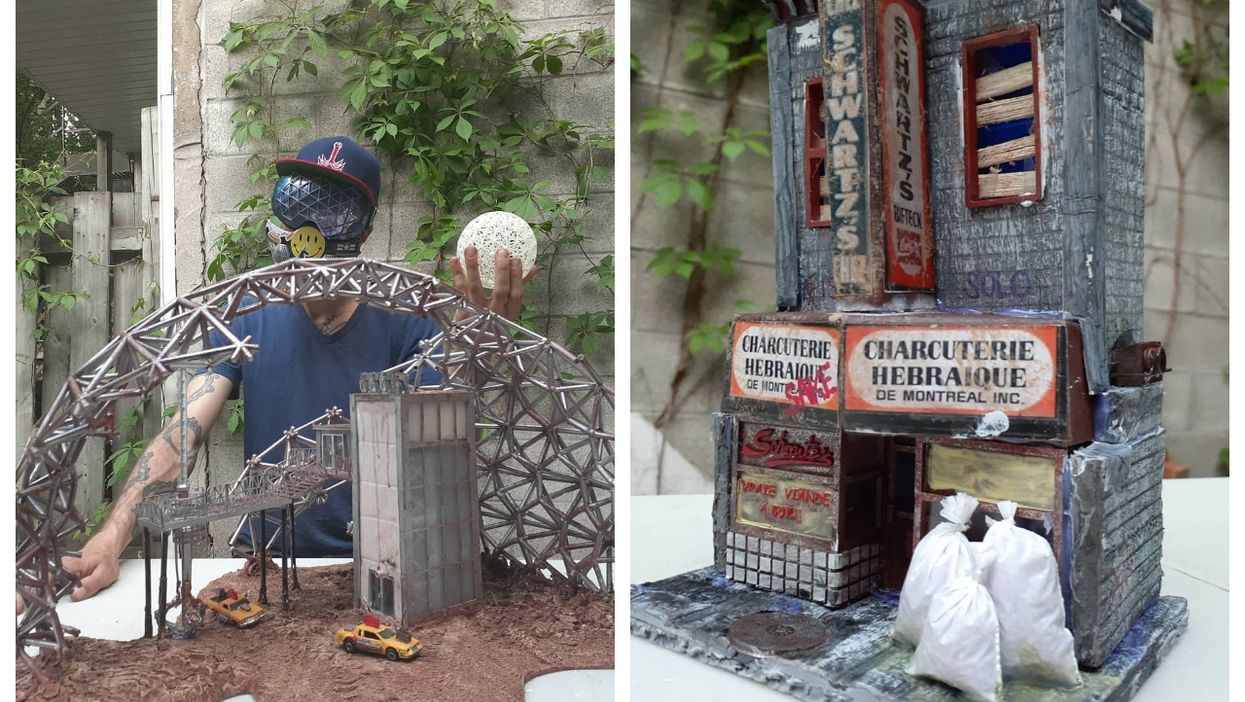 Meet The Guy Who Makes Post-Apocalyptic Models Of Montreal Landmarks (PHOTOS)