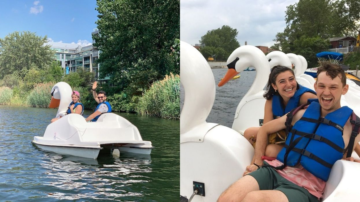 You Can Float Along The Lachine Canal On A Swan-Shaped Pedal Boat This Summer