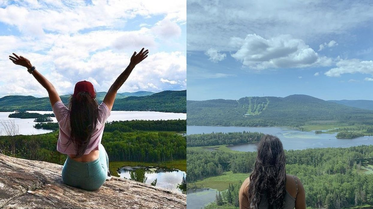 Quebec Has A 'Smile Mountain' Less Than 2 Hours From MTL & The Views Explain Its Name