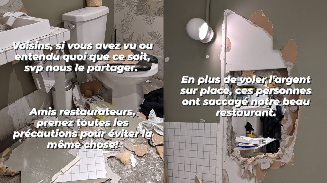 2 Montreal Restaurants Say A Robber Broke Through A Wall To Steal From Them Both