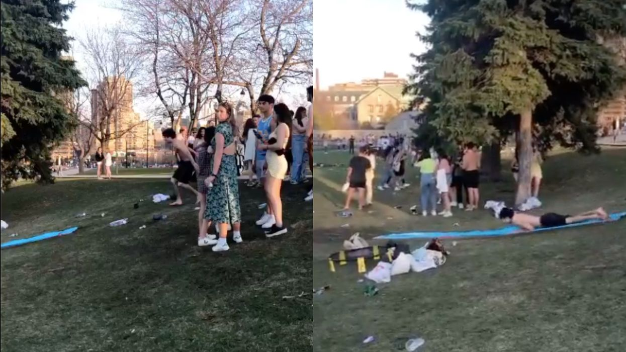 Someone Brought A Slip And Slide To Their Montreal Park Hang This Weekend (VIDEO)
