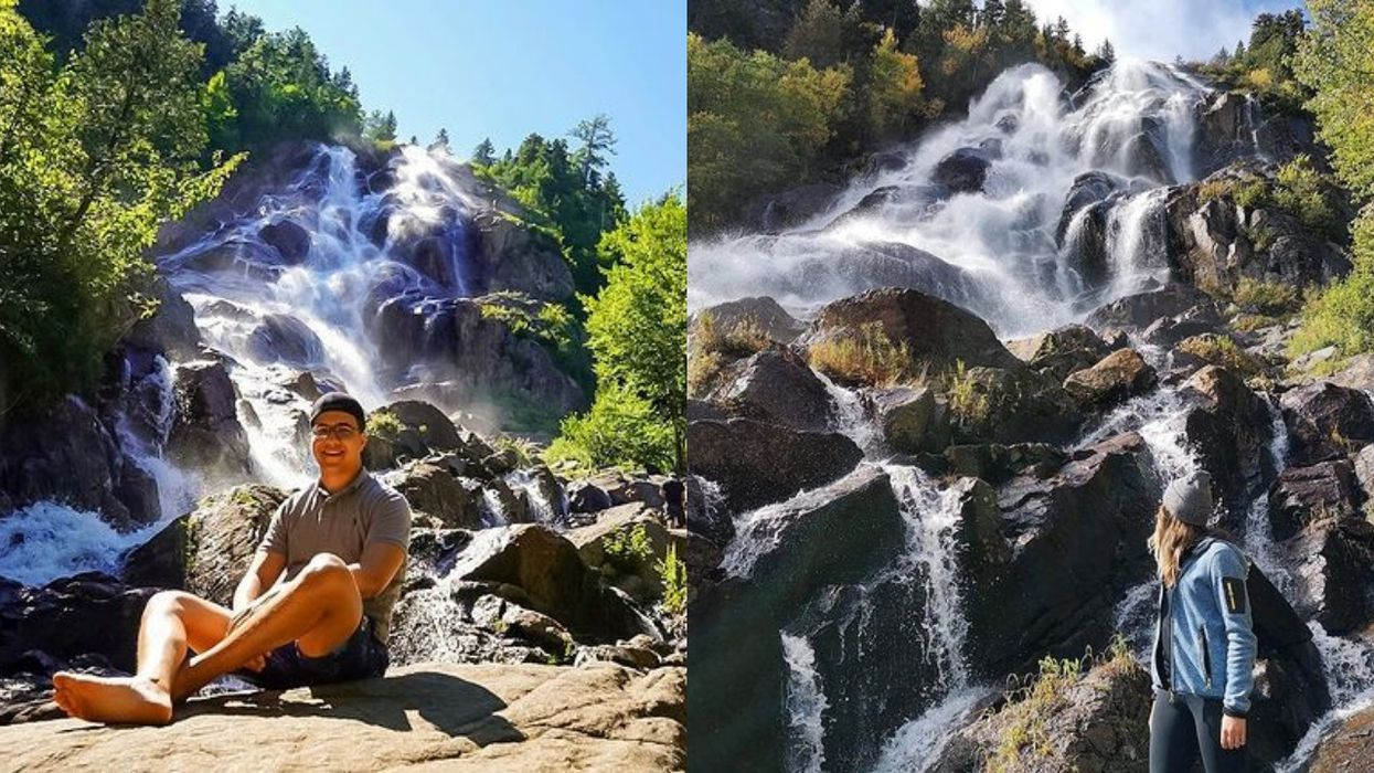 Quebec's Delaney Falls Looks Like They Magically Springs From A Cliff