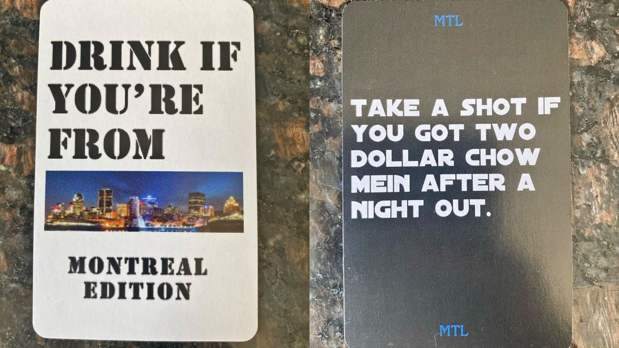 This New Montreal-Edition Drinking Card Game Will Desperately Make You Miss Going Out