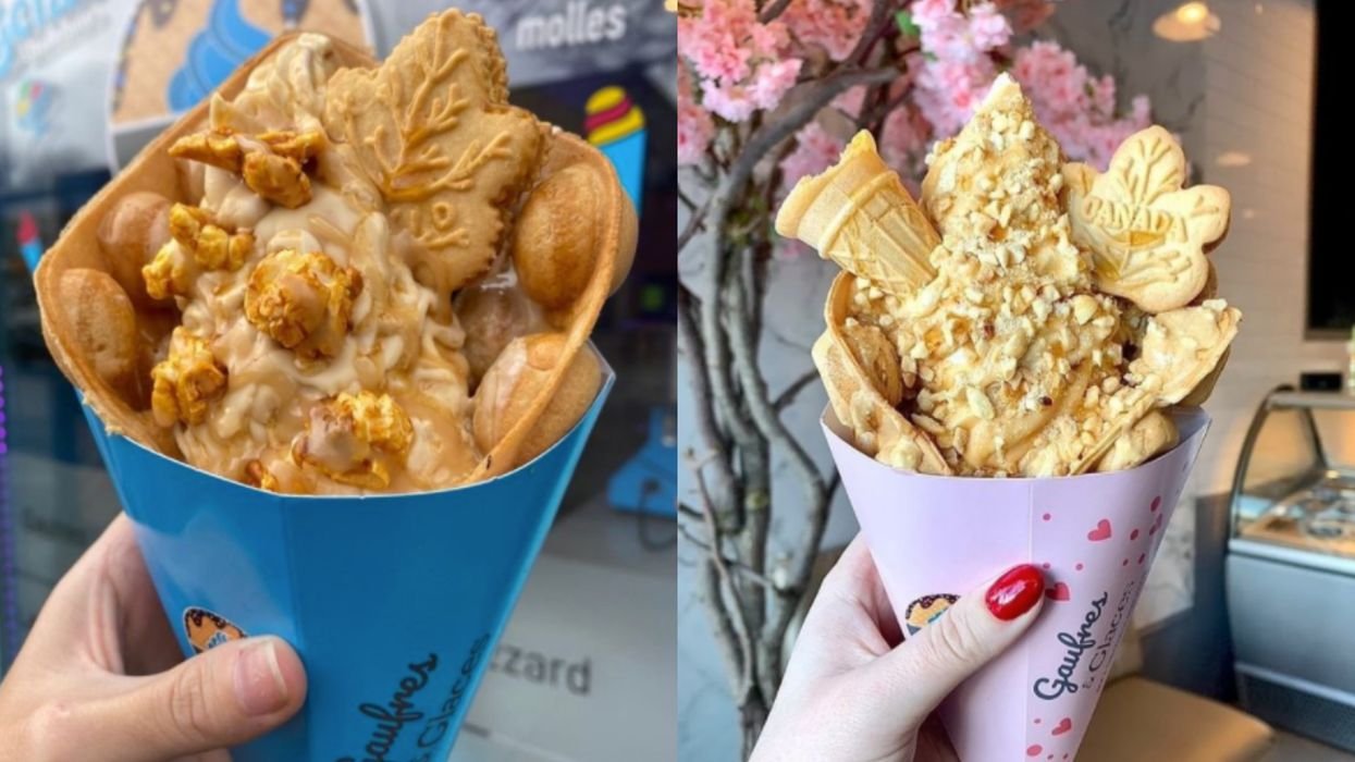 One Of MTL's Fave Ice Cream Spots Makes Action-Packed Maple Cones & They're Oh-So-Canadian