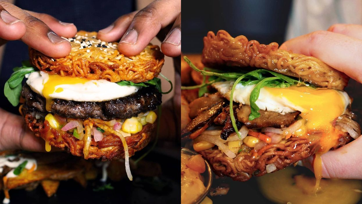 This Montreal Spot Makes A Ramen Burger And You Have To See (And Taste) It To Believe It