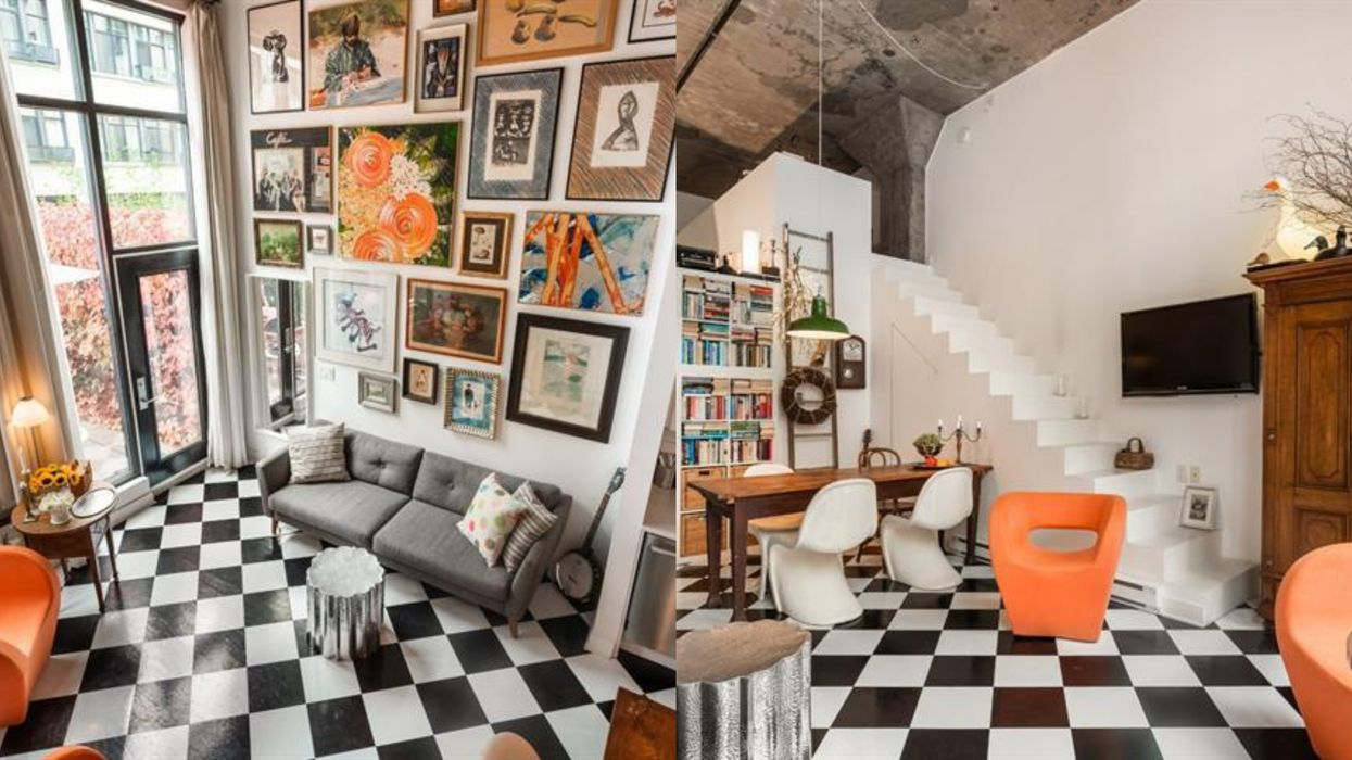 This Loft For Sale In MTL Is Like Tripping Down A Chic 'Alice In Wonderland' Rabbit Hole