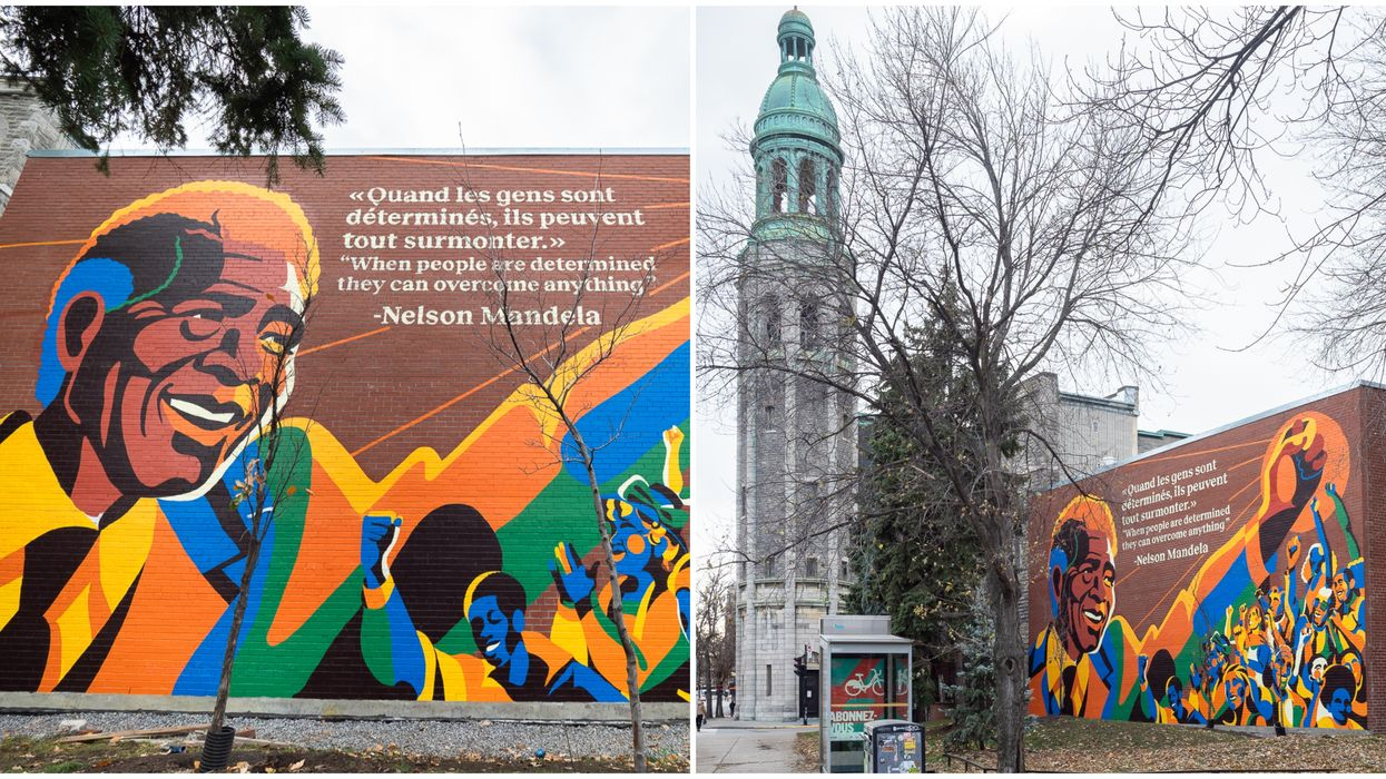 Montreal Has A Beautiful New Mural Dedicated To Nelson Mandela (PHOTO)