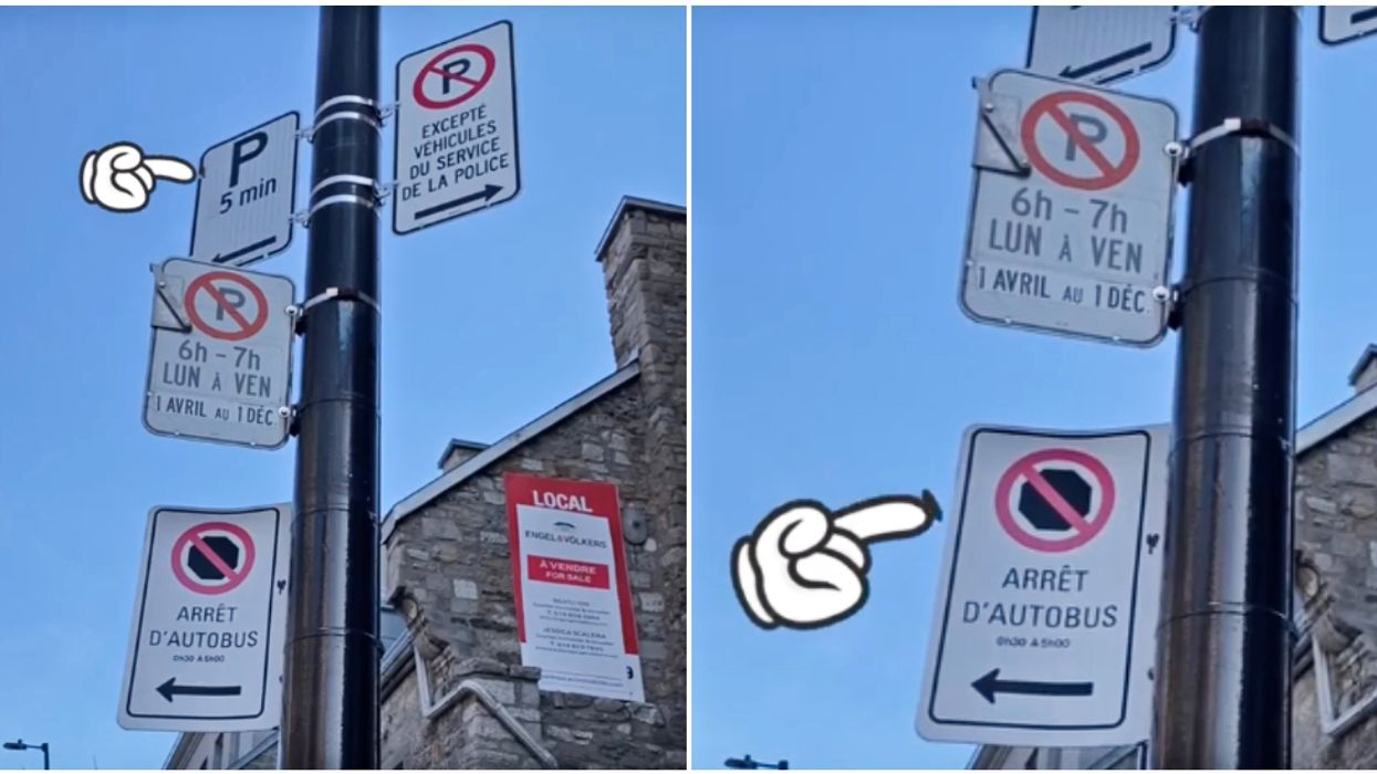 A Montrealer's Hilarious TikTok Sums Up Just How Confusing Parking Is In The City (VIDEO)