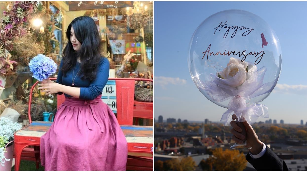 This Florist Brought The 'Flower Bubble' Trend To Montreal & It Has Major Fairytale Vibes
