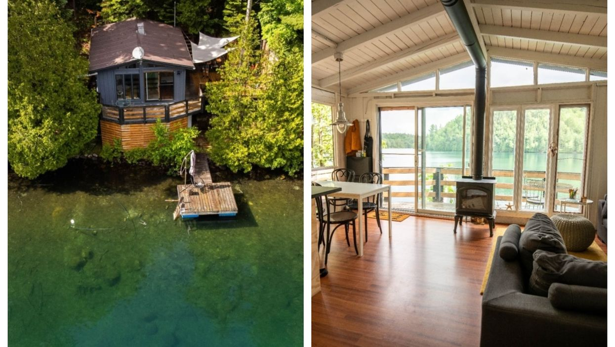 This $299K Lake House For Sale In Quebec Makes You Feel Like You're Floating On Water