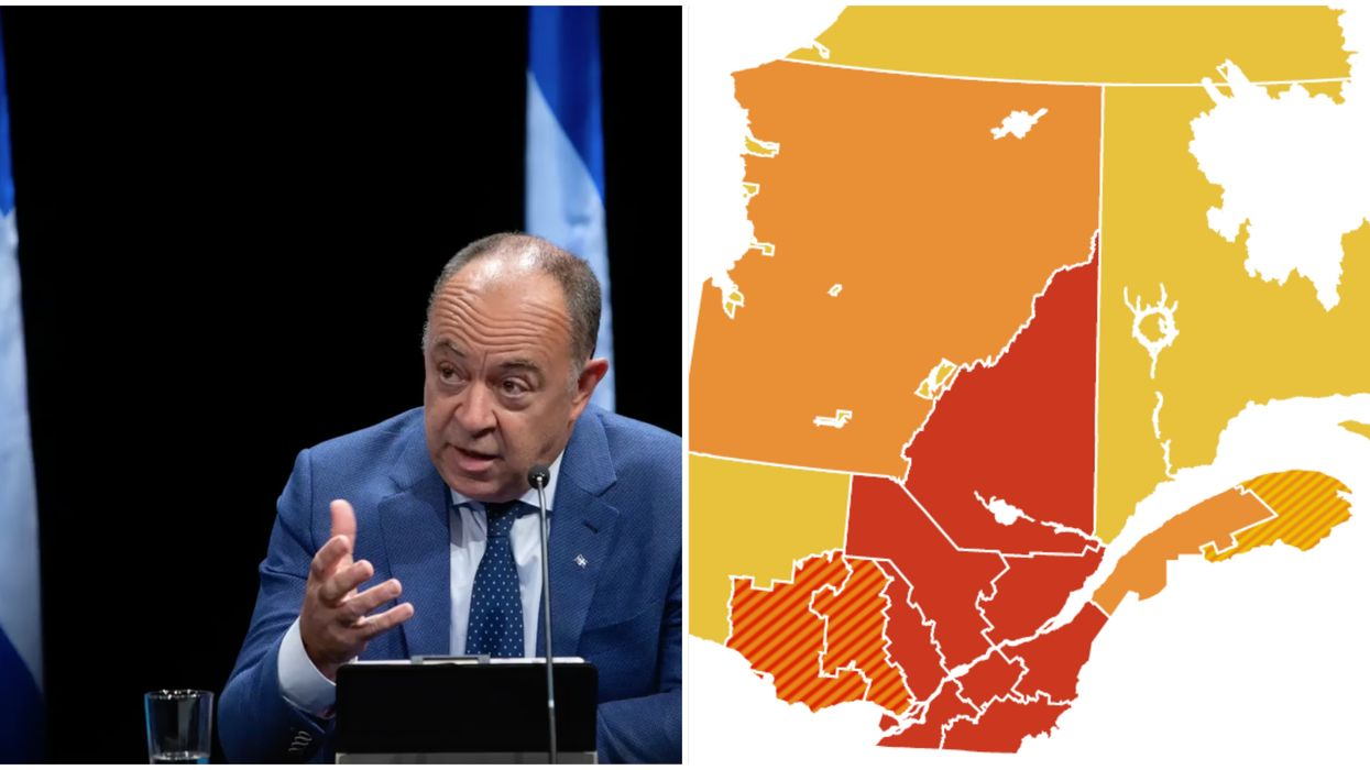 Quebec's Whole Saint-Lawrence Valley Is Now A Red Zone Because Of New Additions