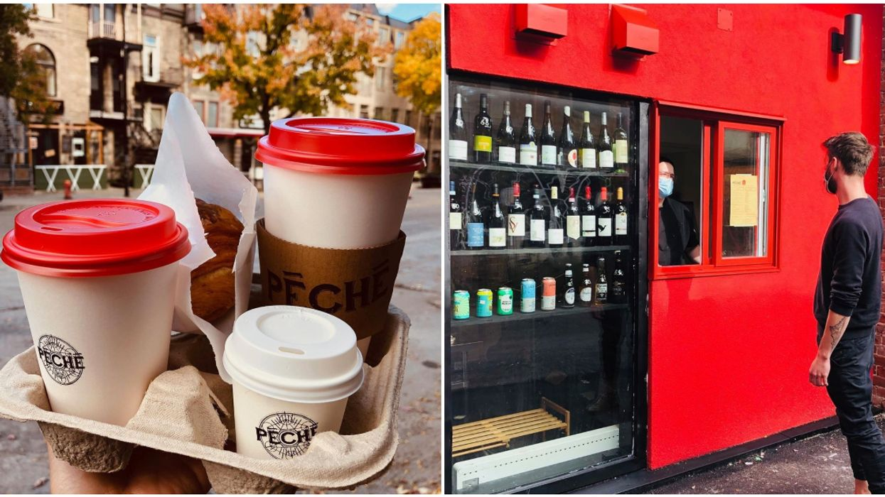 This Café On St-Denis Has A Takeout Window Where You Can Get Wine, Pasta & Coffee To Go