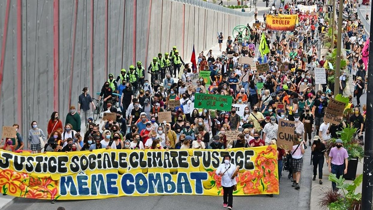 A Year After Montreal's Historic Climate March, Activists Took To The Streets Again
