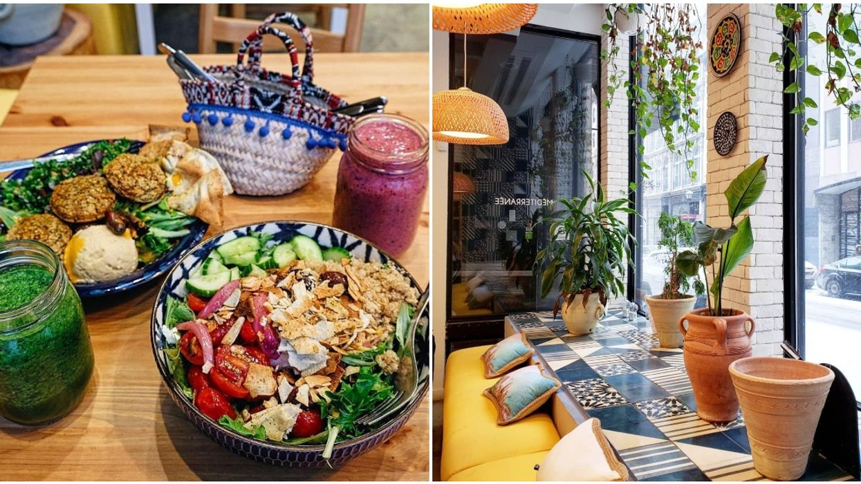 This Montreal Mediterranean Café Feels Like A Trip To Mykonos The Second You Enter