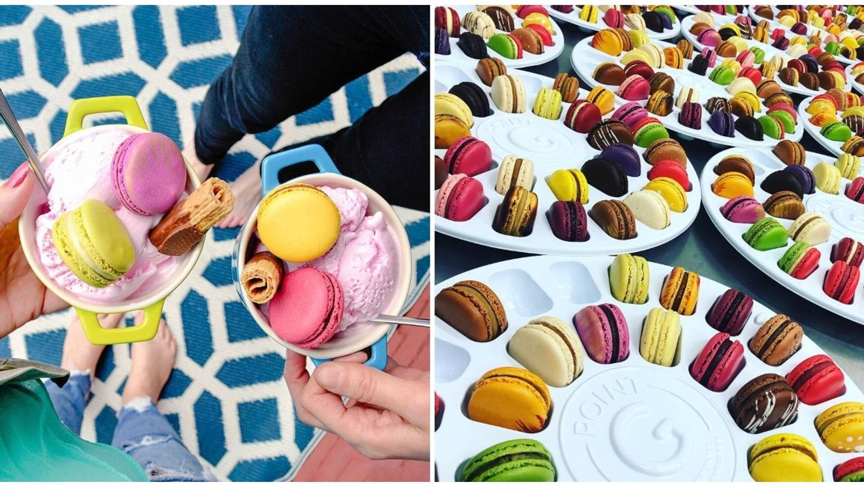 You Can Pick Macarons In Every Colour Of The Rainbow At This Pink Montreal Pâtisserie