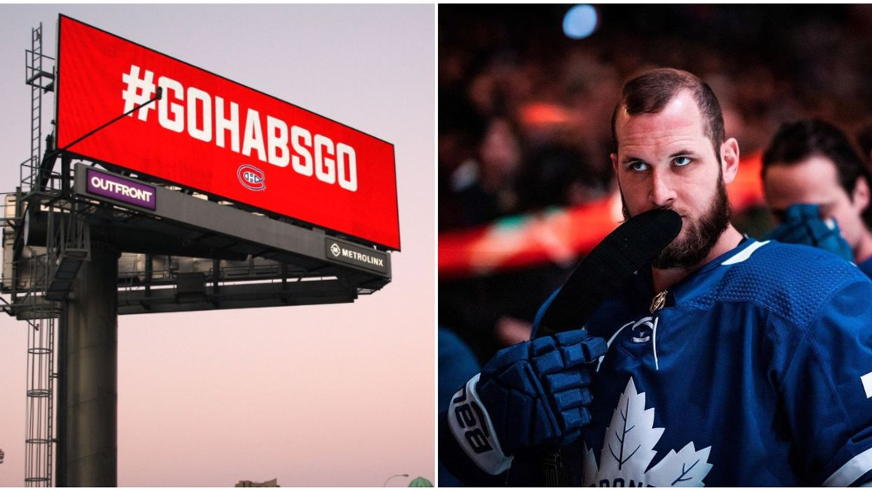 The Canadiens Are Taking Over Toronto & Put Up A Giant Billboard To Rub It In Their Faces