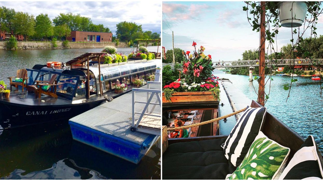 Montreal's Beautiful Floating Bar Is Docked On The Canal & Officially Open For The Summer