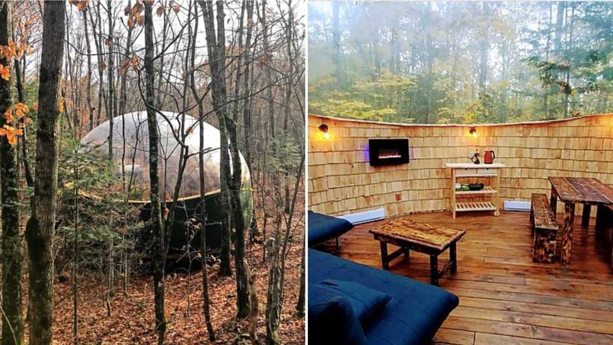 You Can Sleep In A Bubble Under The Stars Only An Hour From Montreal