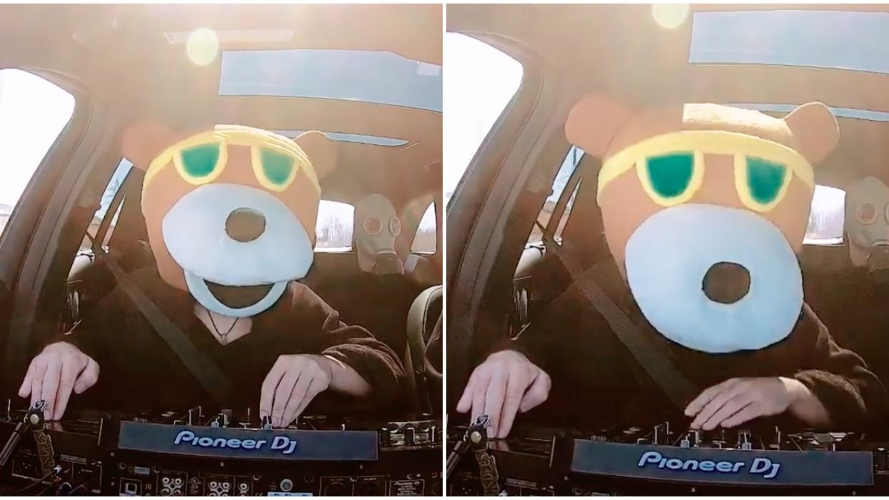 A Montreal DJ Dressed As A Teddy Bear Drove Around The City Playing Music (Video)