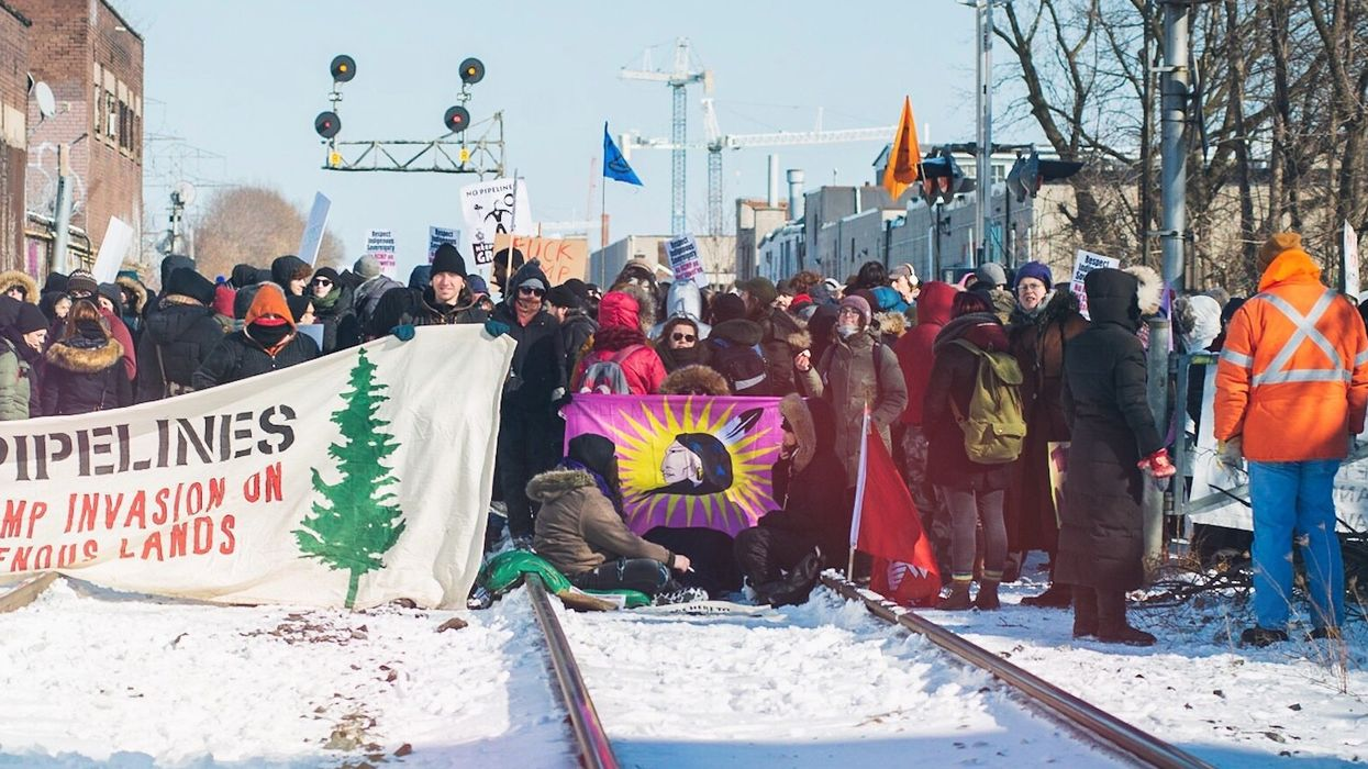 Land Protectors Are Blocking Train Lines From Montreal To Protest Coastal GasLink Pipeline