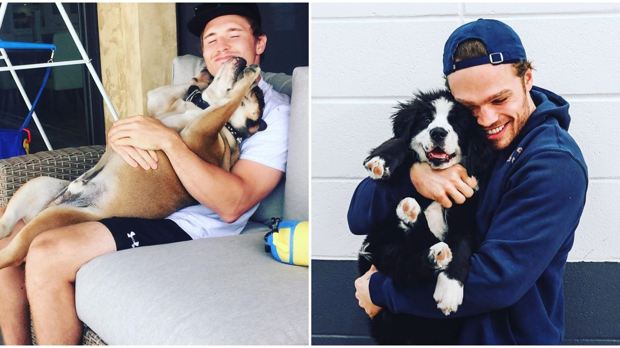 12 Photos Of Montreal Canadiens Players Being The Best Damn Dog Dads In The City
