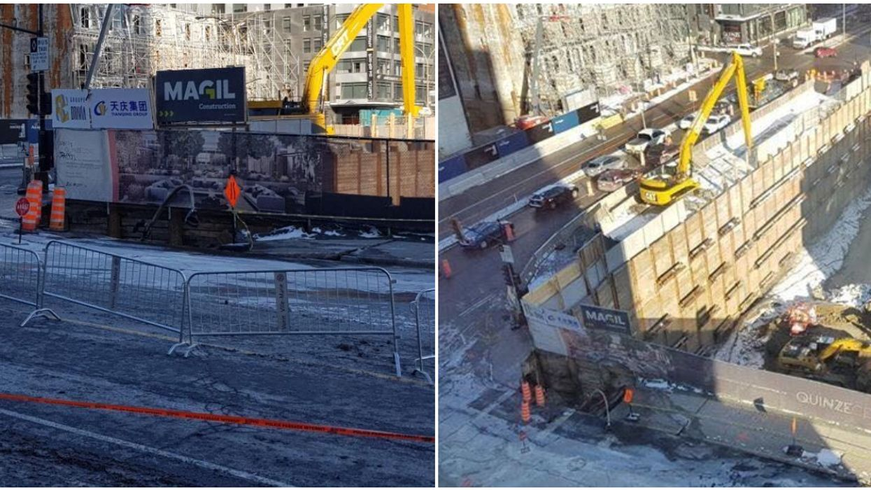 Montreal Has Another Sinkhole & It's The Reason For All The Traffic On Cote-Des-Neiges