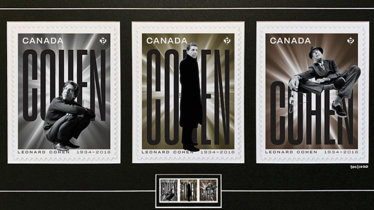 Montreal Legend Leonard Cohen Honoured In New Canada Post Stamps & Truck (Photos)