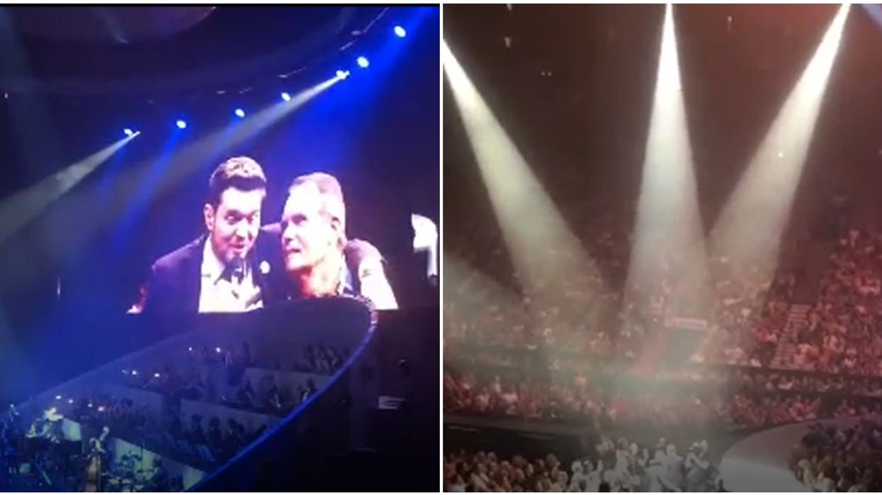 Adorable Quebec Man Wows A Sold-Out Crowd At Michael Bublé Concert In Montreal