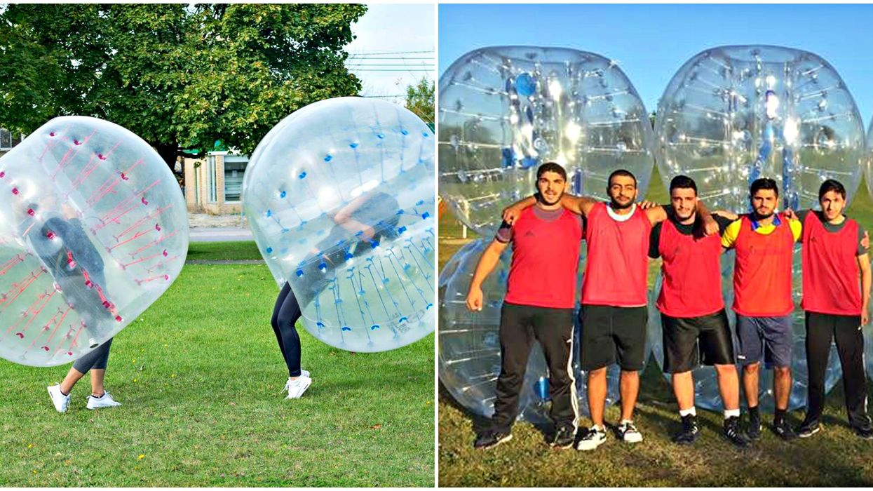 You Can Race Your Friends Down Montreal Hills In Giant Bubble Balls This Summer