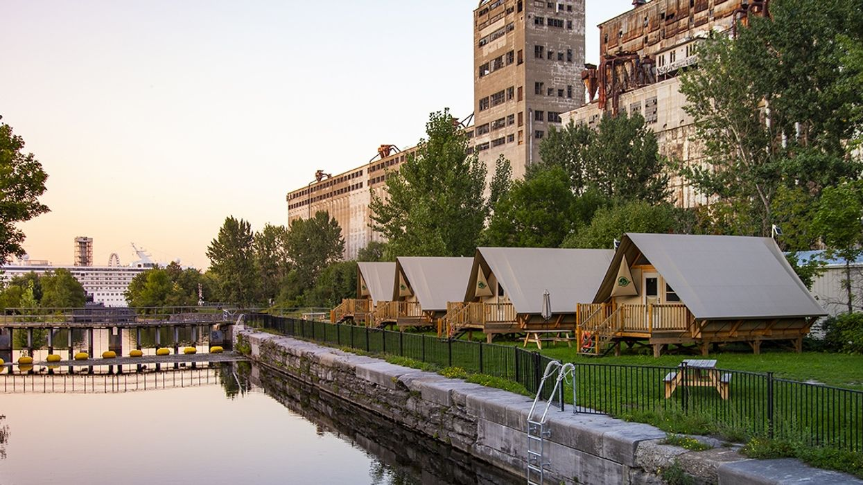 This Is The Last Year You Can Camp In A Giant Urban Tent In Montreal's Old Port