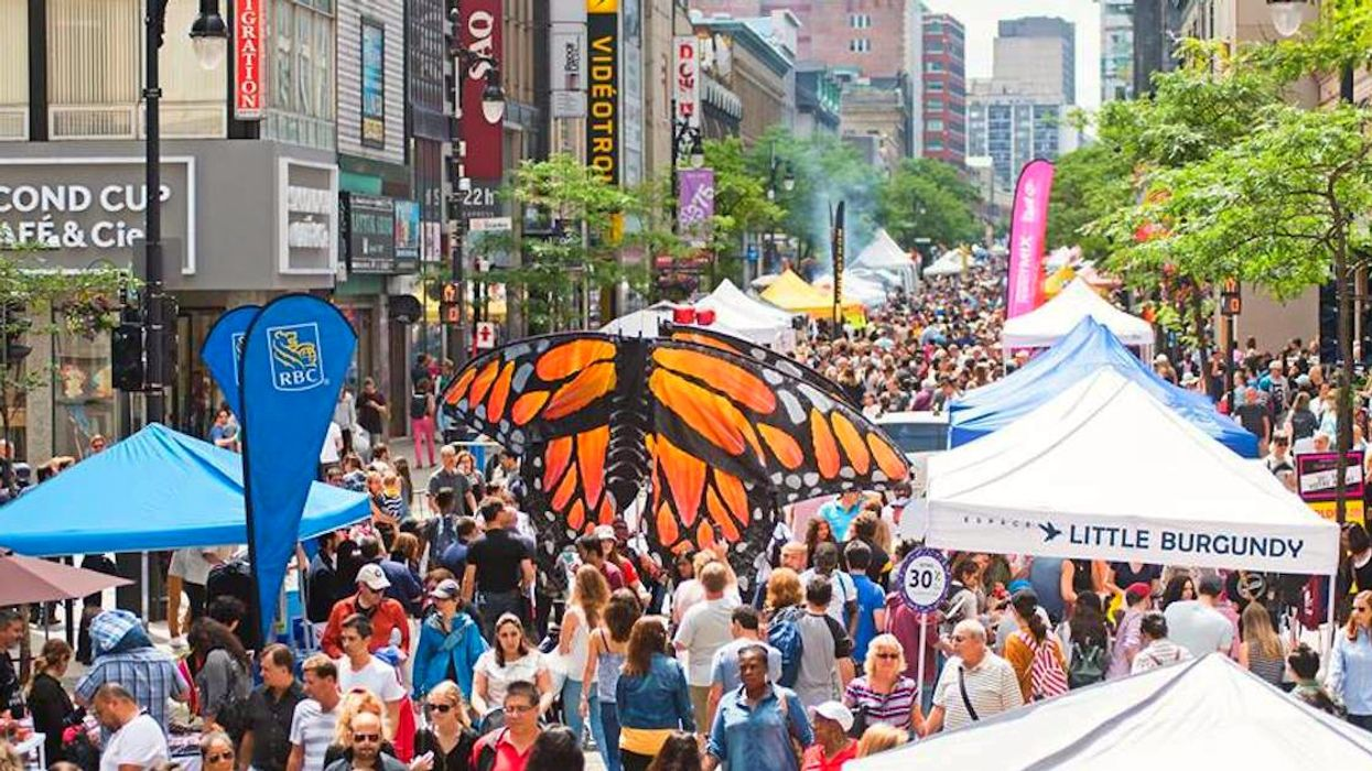 Montreal's Sainte-Catherine Street Is Closing Off To Host The Biggest Summer Street Fair In Canada