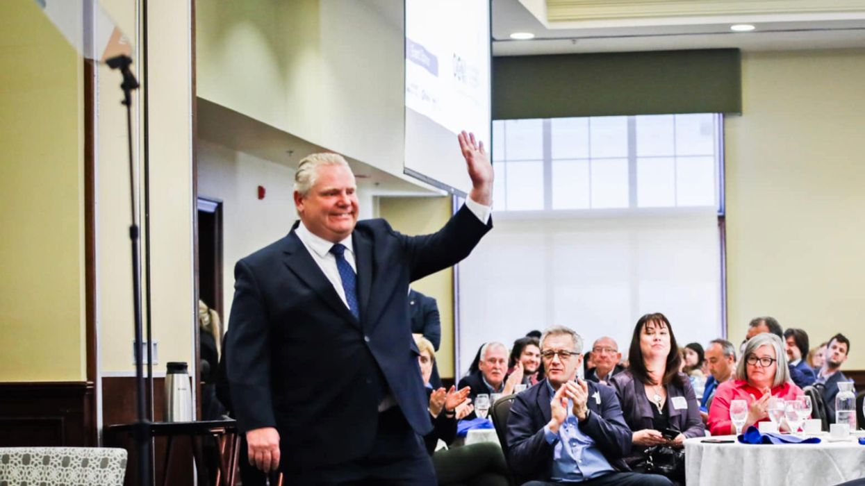Video Of Doug Ford Getting Booed And Reacting Exactly How You'd Expect