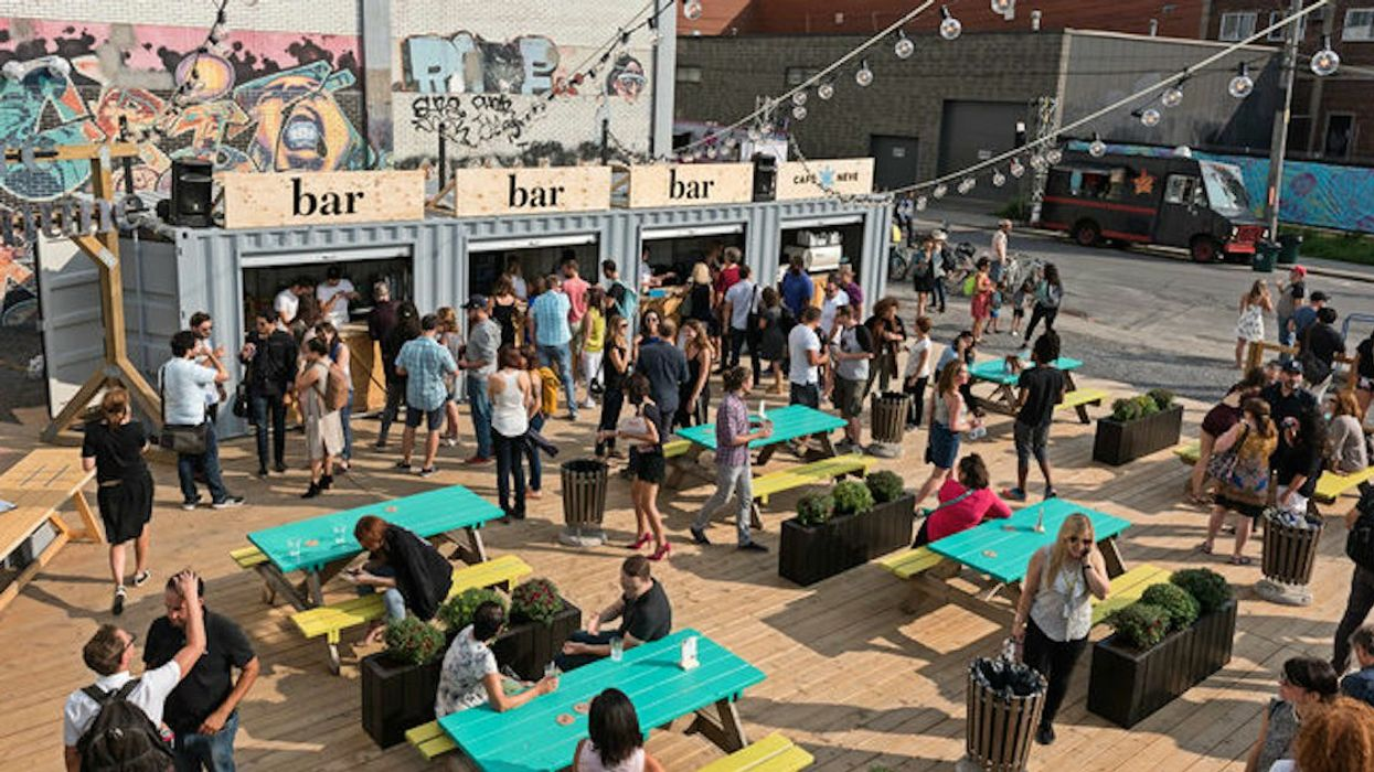 Montreal Is Getting Free Pop-Up Plazas With Open-Air Bars & Work Spaces This Month