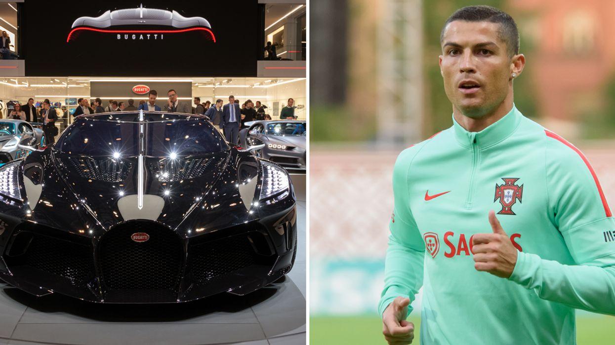 Cristiano Ronaldo Just Bought 'World's Most Expensive Car' - A $16.5 Million Bugatti (Pics)