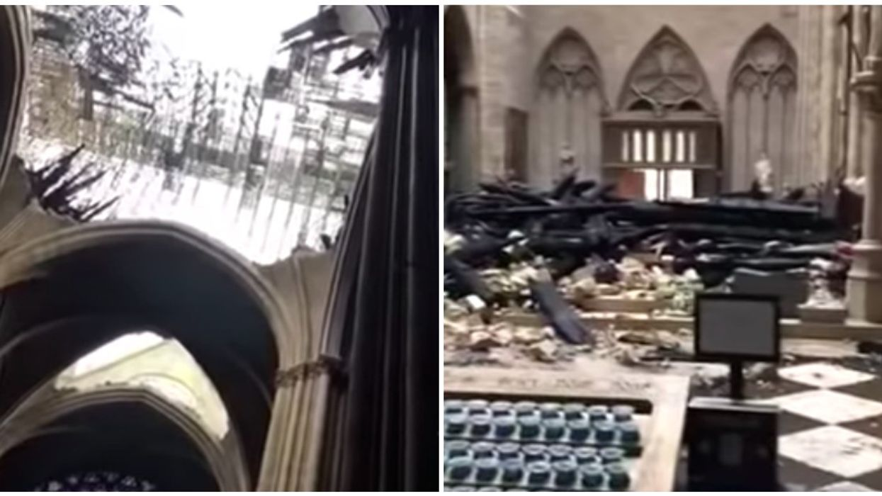 Heartbreaking New Video Shows The Ruined Interior Of Notre-Dame Cathedral