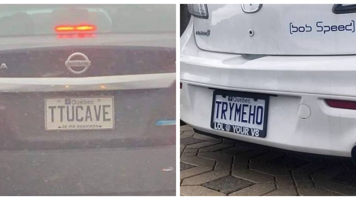 The 11 Most Hilarious Vanity Plates Newly Spotted In Quebec