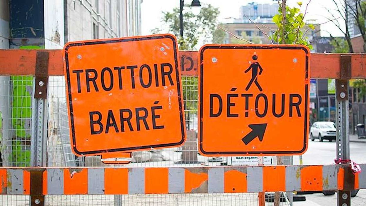 Construction Signs Blocked This Montreal Street For Weeks Even Though There Was Never Any Work Done