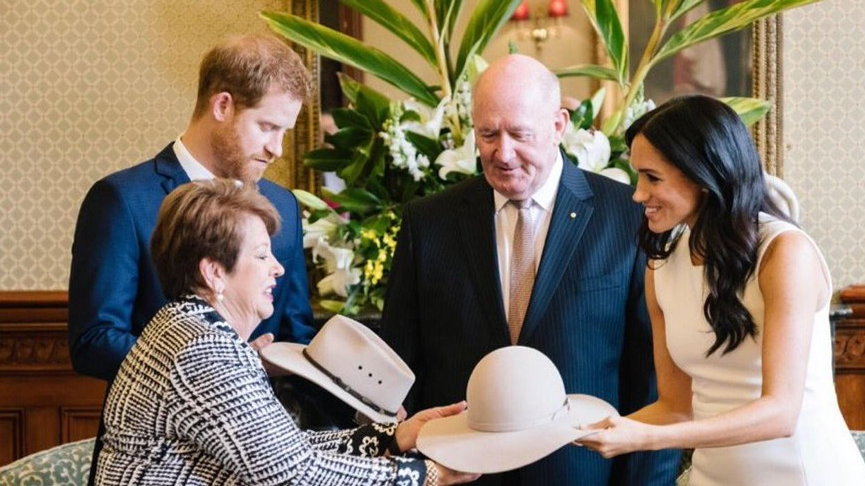Meghan Markle Is Welcomed With Adorable Baby Gift On The First Stop Of Her Royal Tour In Australia (Video)
